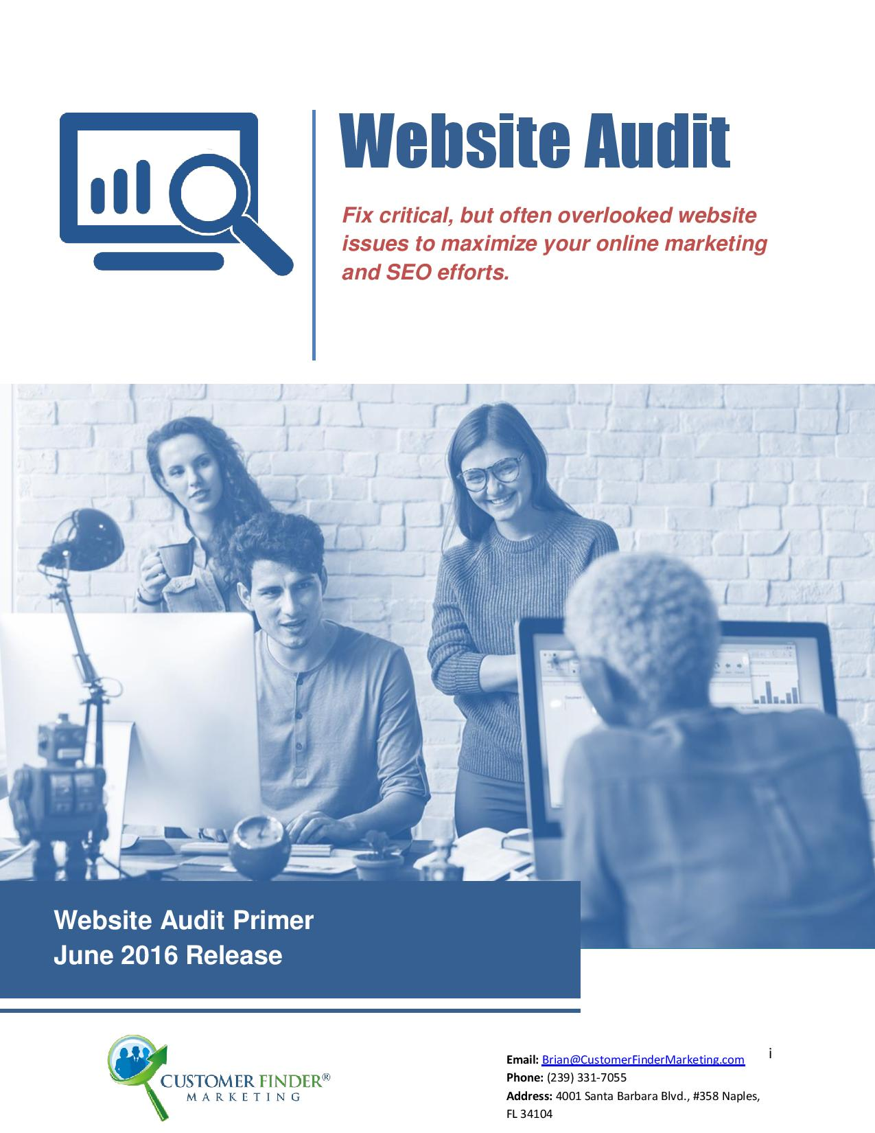 Free SEO Audit Report | Search Engine Optimization Analysis