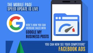 Increase Sales with Google My Business Posts and You Can Now See your Competitors' Facebook Ads